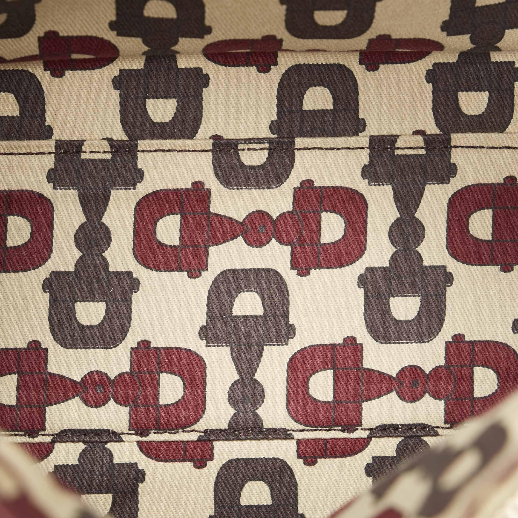 Vintage Gucci Guccissima Abbey Leather Boston Bag Brown