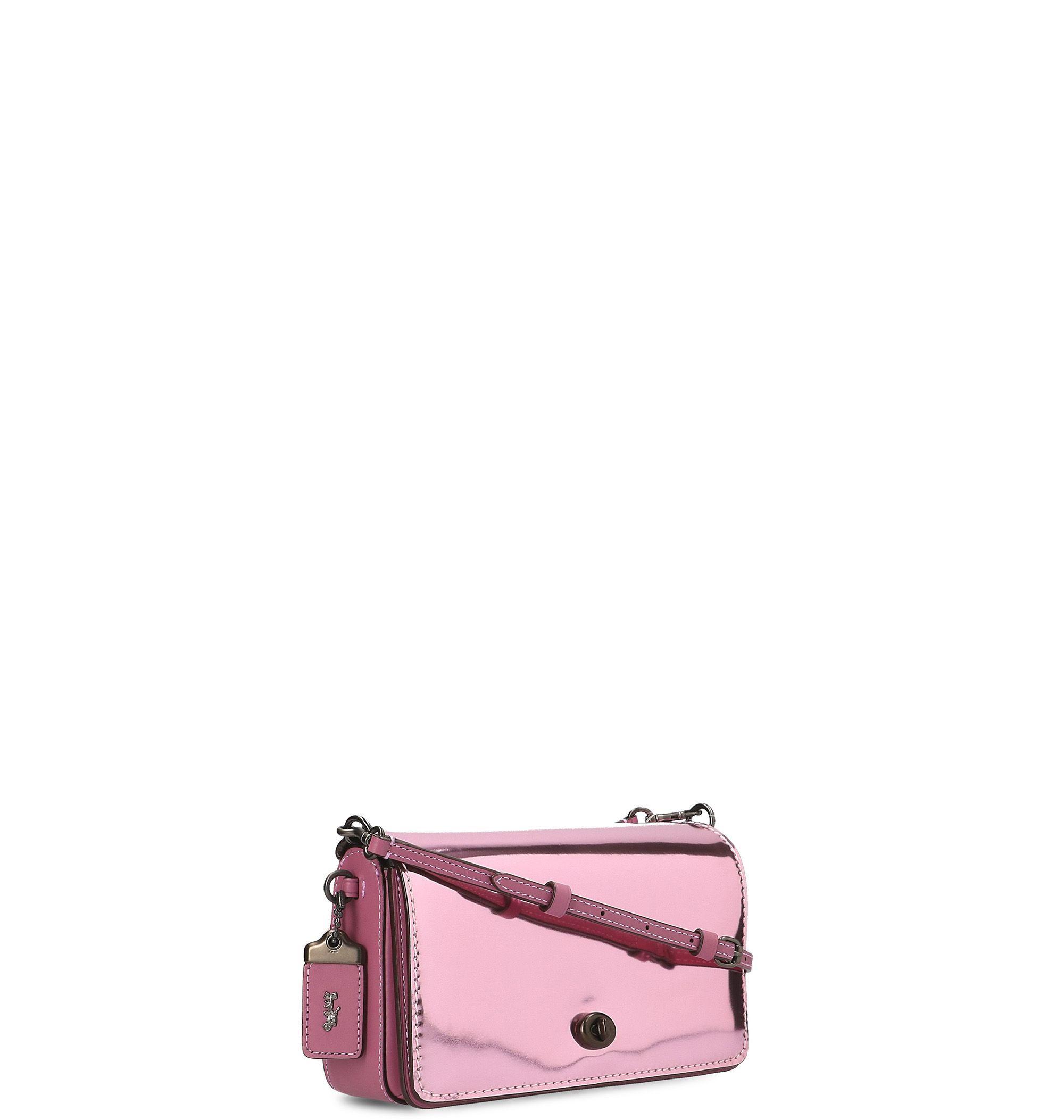 COACH WOMEN'S 22832BPPK9 FUCHSIA LEATHER SHOULDER BAG