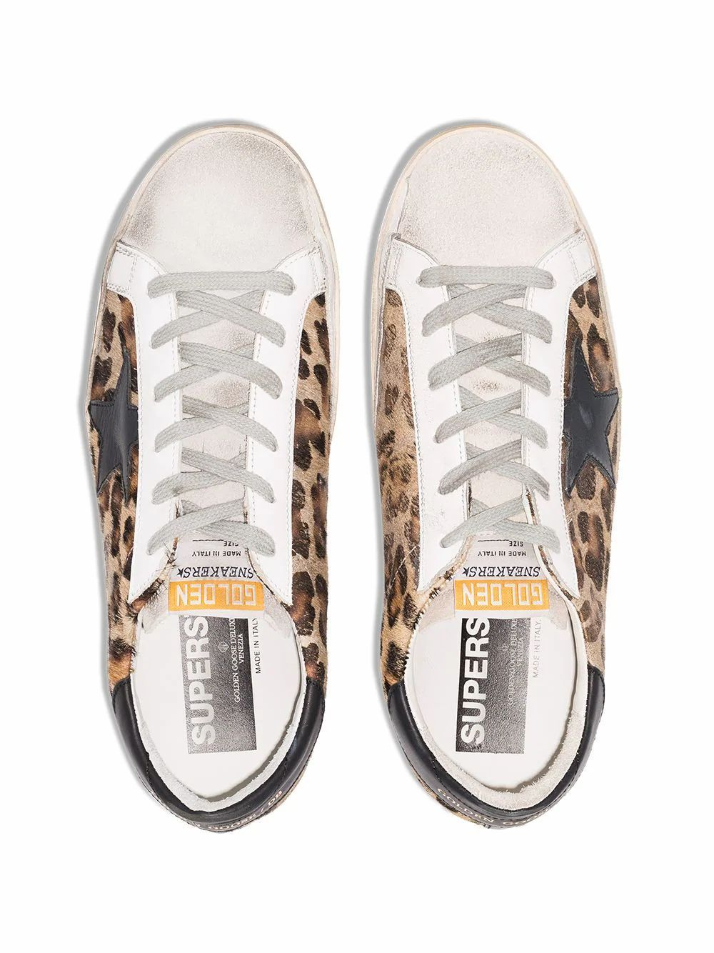 GOLDEN GOOSE WOMEN'S GWF00101F00056580189 BROWN LEATHER SNEAKERS