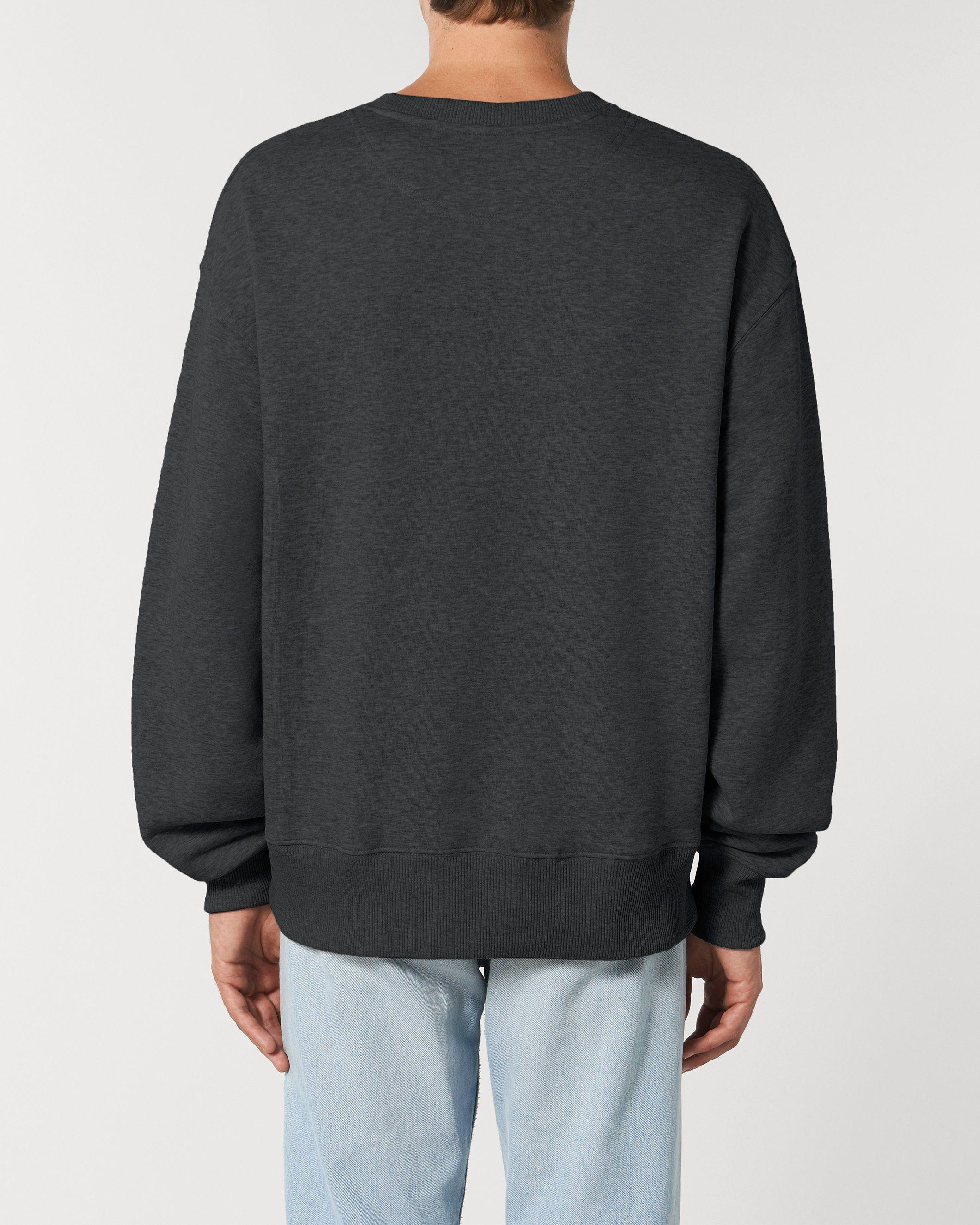 Dualism Unisex Relaxed Crew Neck Sweatshirt in Grey