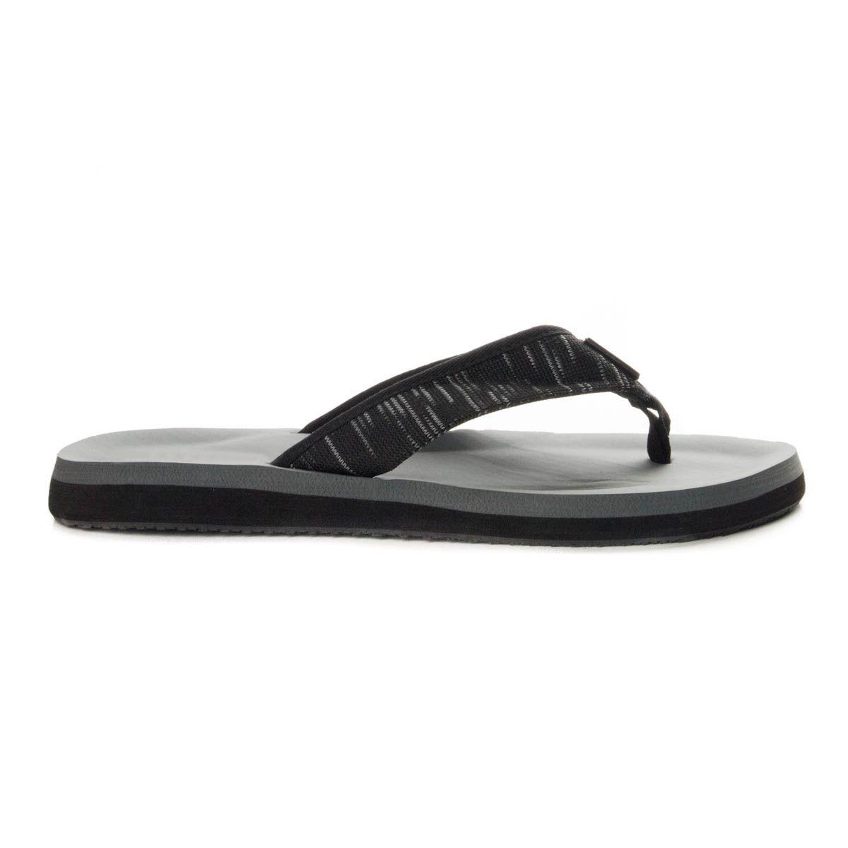 Montevita Fabric Flip Flop in Black Marl