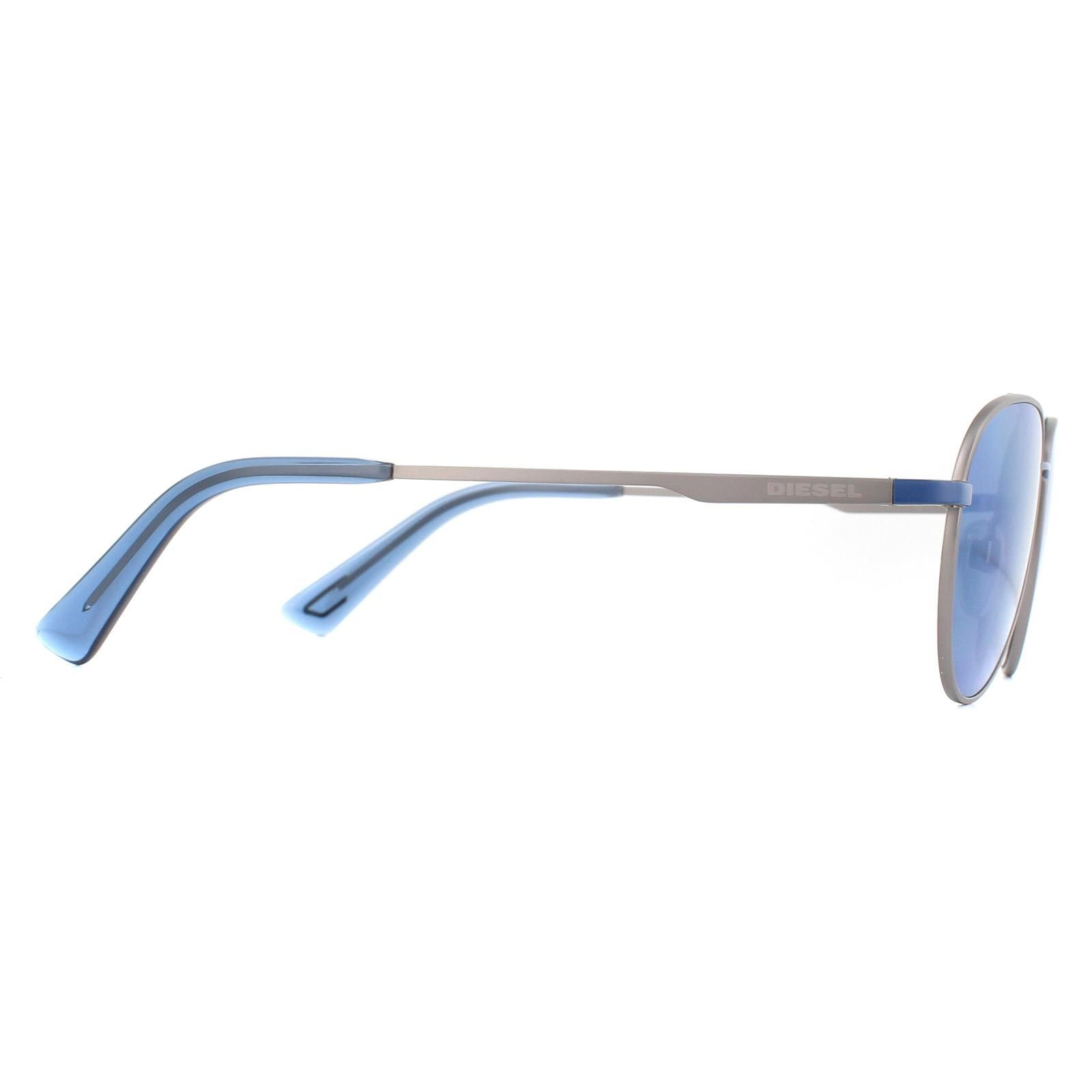 Diesel Sunglasses DL0291 92X Blue Grey Blue Mirror