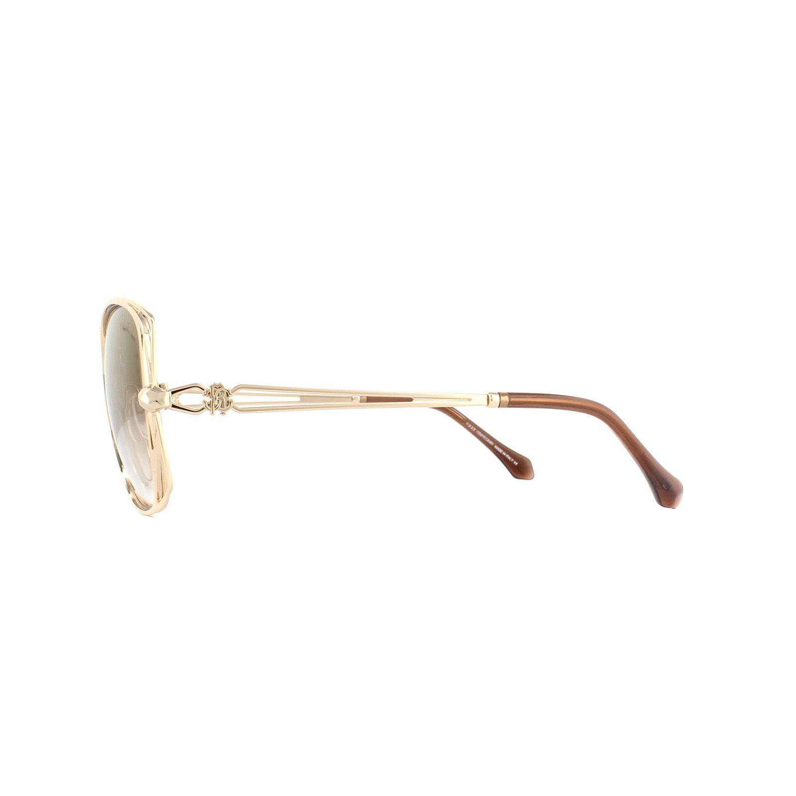 Roberto Cavalli Sunglasses Casentino RC1031 28G Gold Brown Gold Mirror