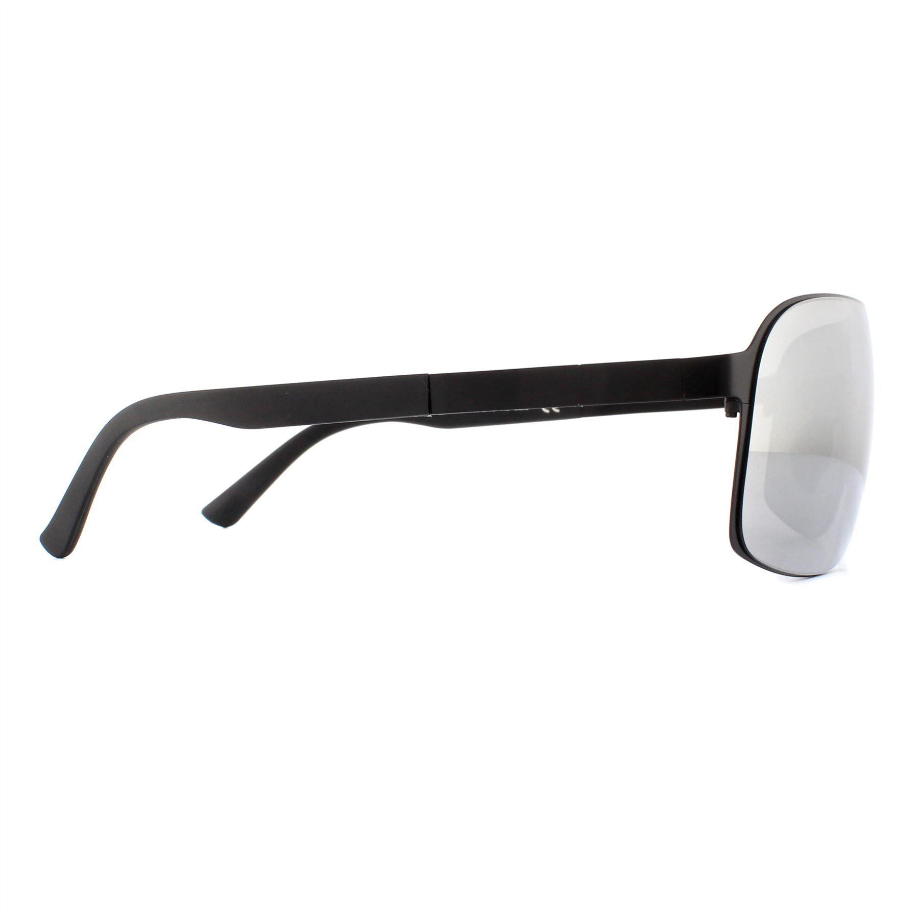 Porsche Design Sunglasses P8579 B Black Mercury Silver Mirror