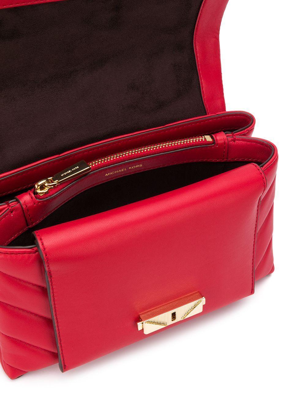 MICHAEL KORS WOMEN'S 30T9G0EL8L683 RED LEATHER SHOULDER BAG