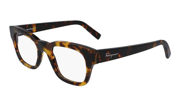 Salvatore Ferragamo Rectangular plastic Unisex Eyeglasses DARK TORTOISE / Clear demo lens