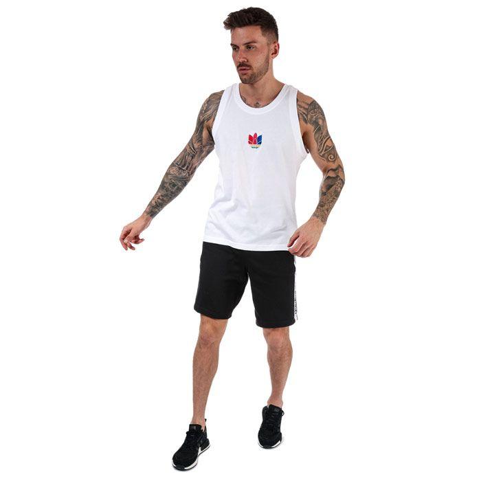 Men's adidas Originals Adicolor 3D Trefoil Tank Top in White