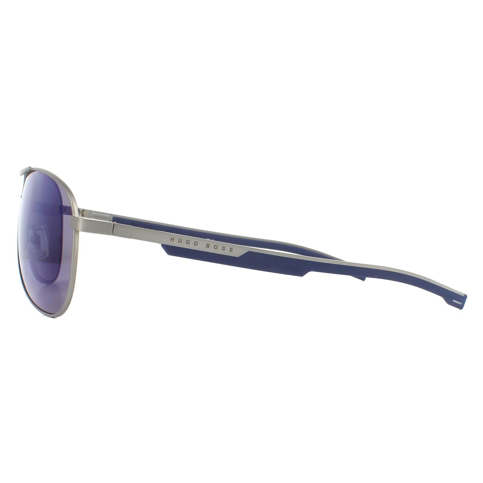Hugo Boss Sunglasses BOSS 1199/S R81/XT Matte Ruthenium Blue Mirror