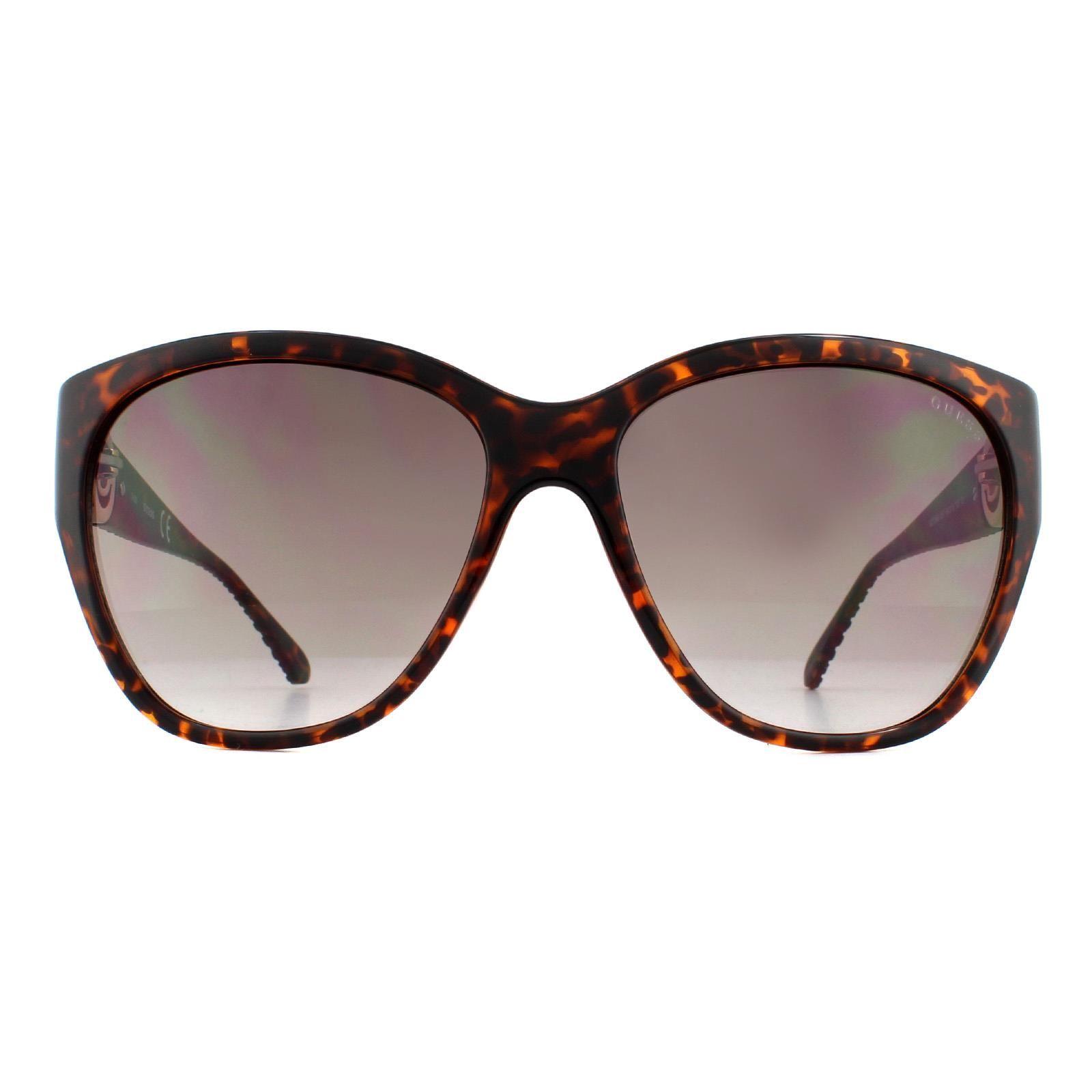 Guess Sunglasses GU7348 S57 Dark Havana Brown Gradient