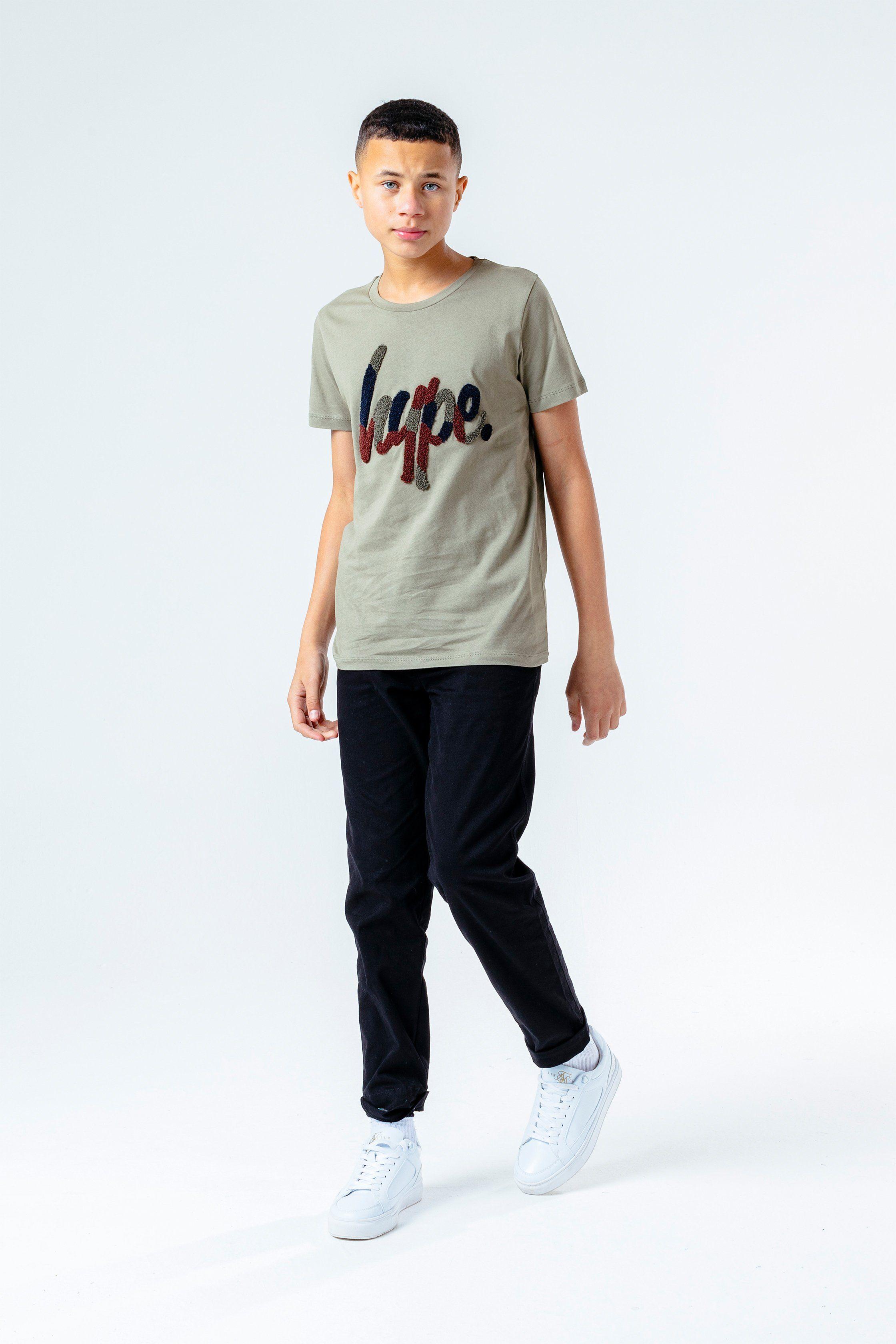 Hype Camo Flock Script Kids T-Shirt