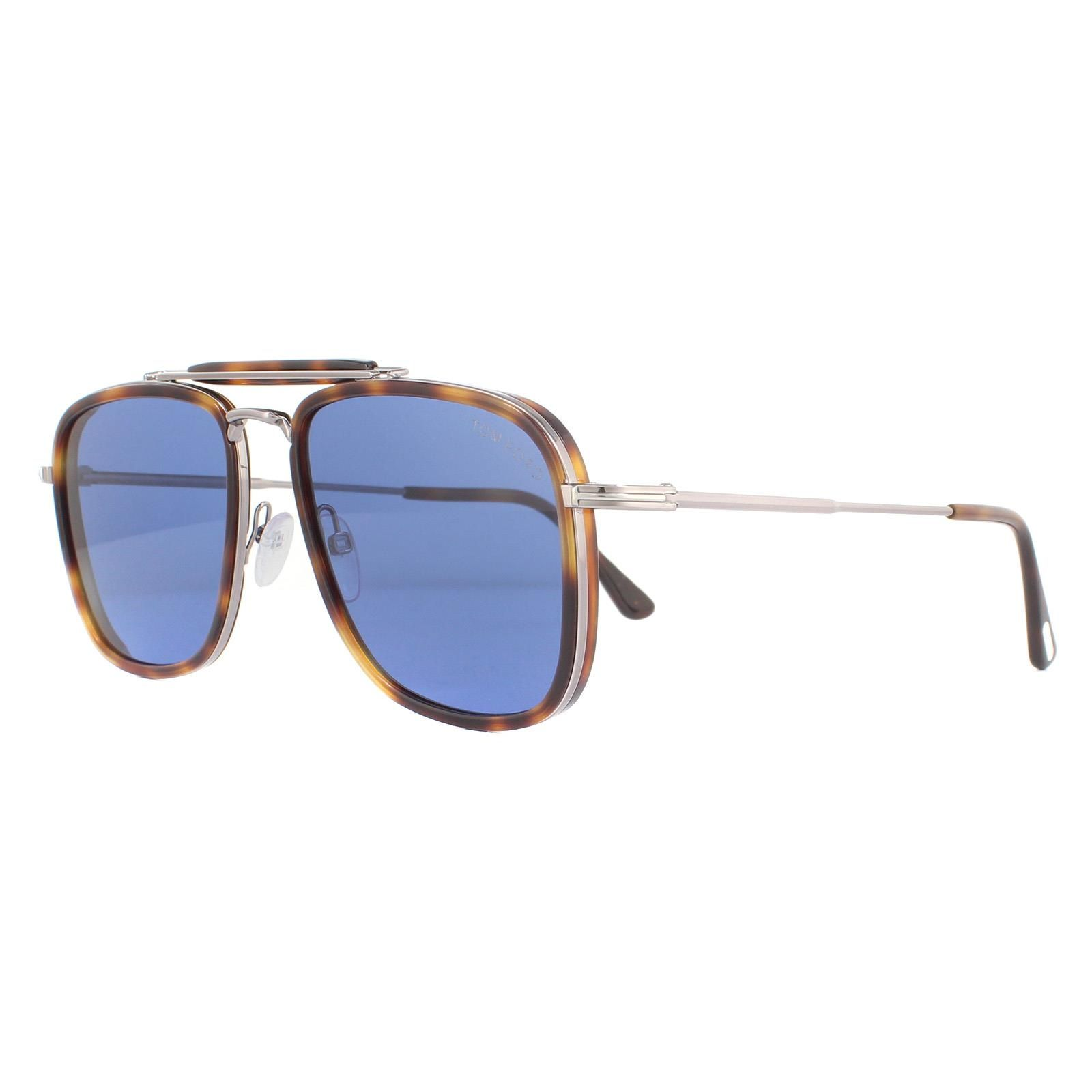 Tom Ford Sunglasses Huck FT0665 53V Blonde Havana Blue