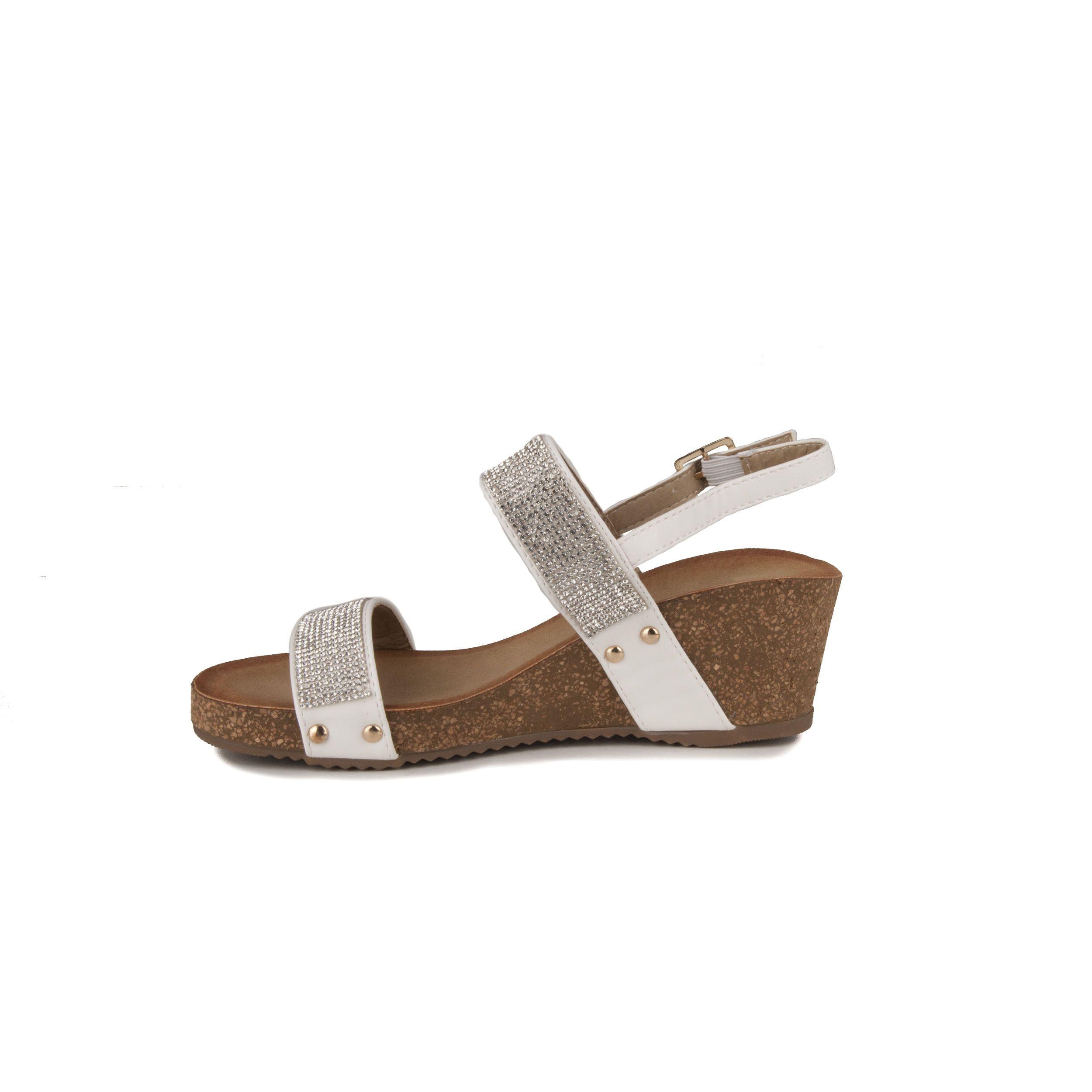 Purapiel Wedge Sandal in White