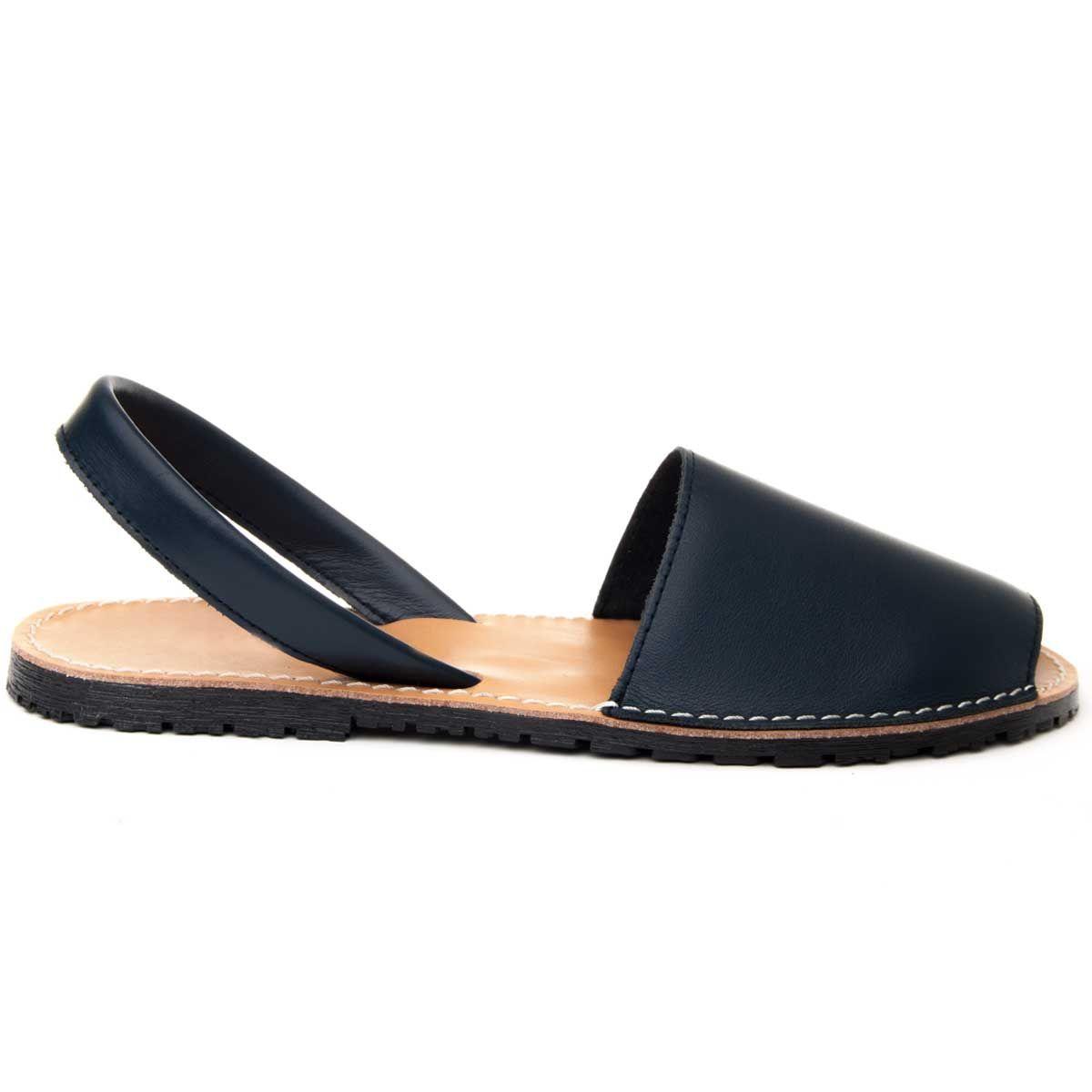 Purapiel Slingback Flat Sandal in Blue