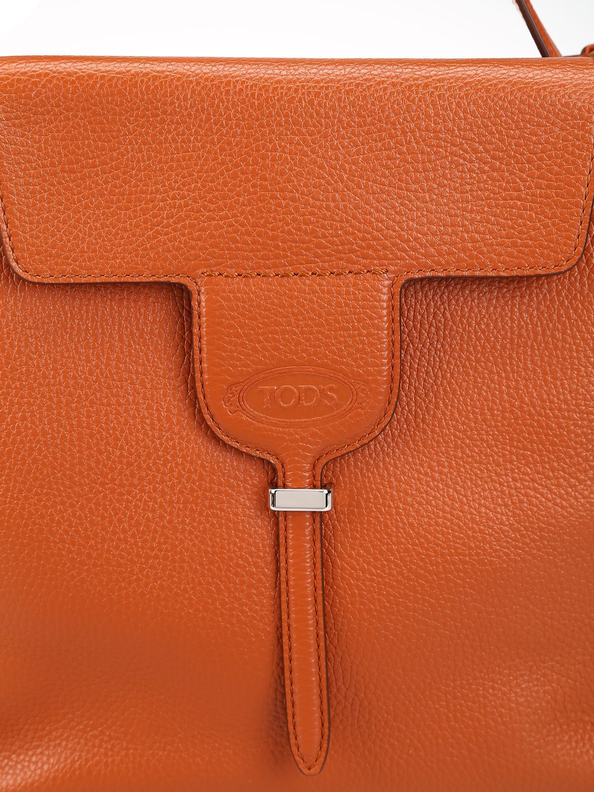 TOD'S WOMEN'S XBWANXE9200FFXG807 ORANGE LEATHER SHOULDER BAG