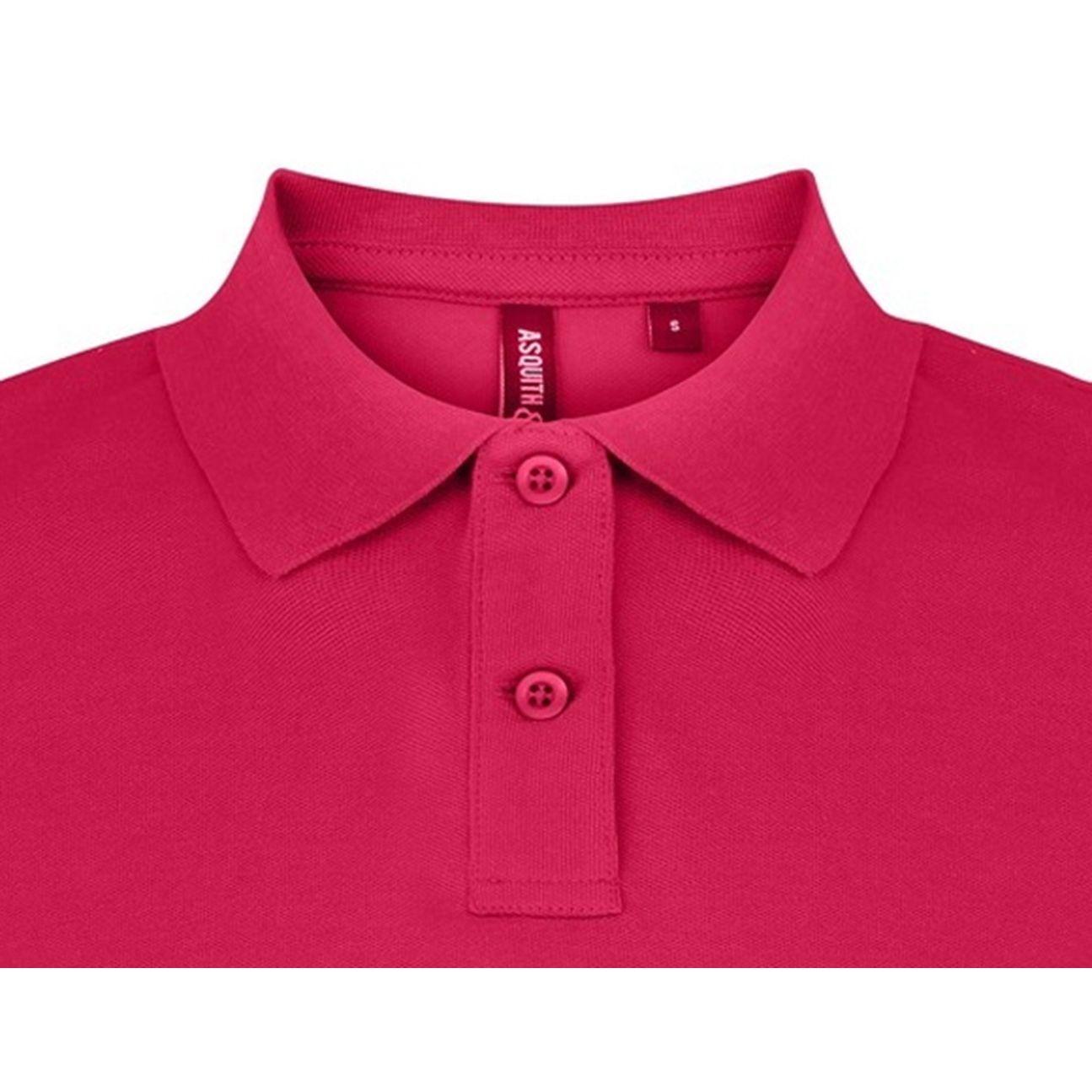 Asquith & Fox Womens/Ladies Plain Short Sleeve Polo Shirt (Hot Pink)