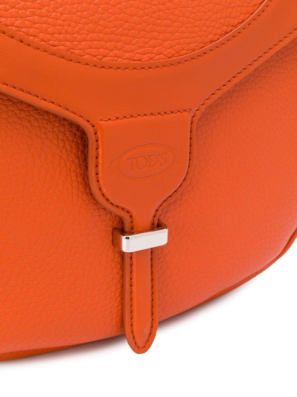 TOD'S WOMEN'S XBWANXC8100N95G806 ORANGE LEATHER SHOULDER BAG