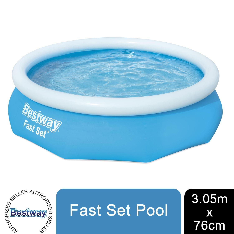 "Bestway Fast Set 10' x 30""/3.05m x 76cm Pool"