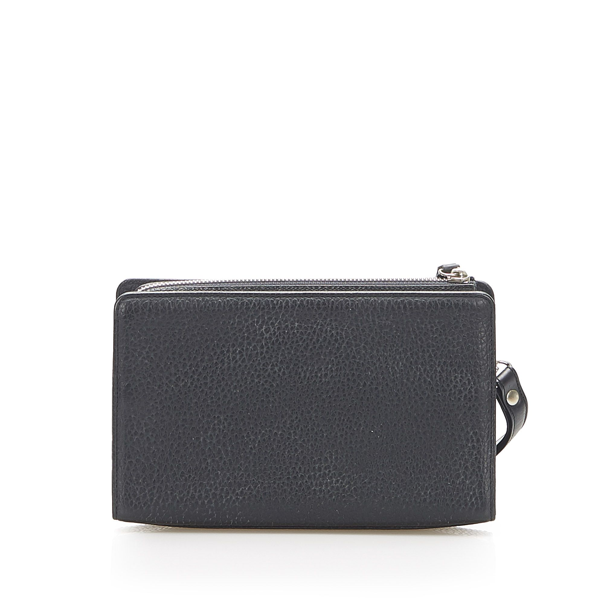 Vintage Burberry Leather Clutch Black