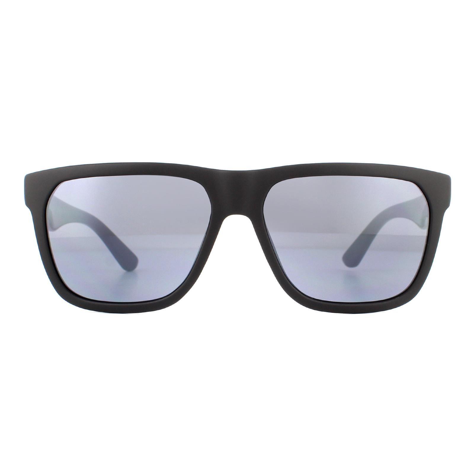 Lacoste Sunglasses L732S 002 Matte Black and White Grey