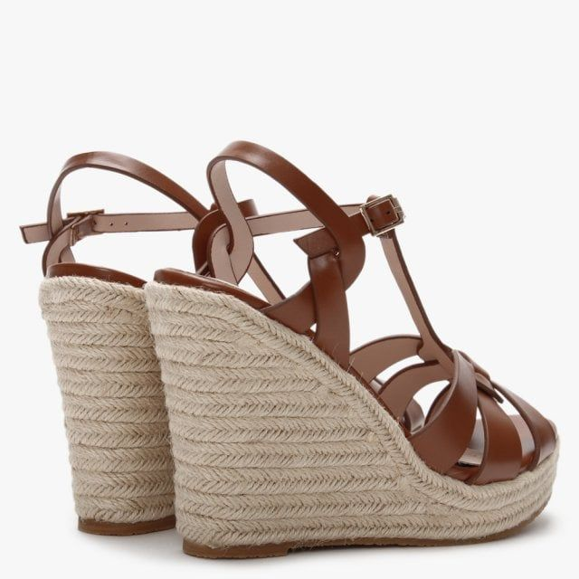 DF By Daniel Amberna Cut Away Espadrille Wedge Sandals