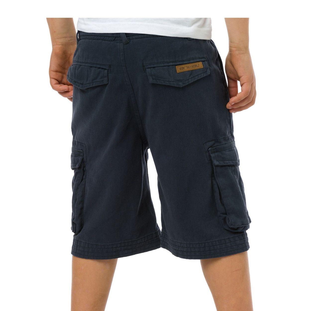 Animal Boys Antony Printed Brand Cargo Shorts CL5SG646 Navy