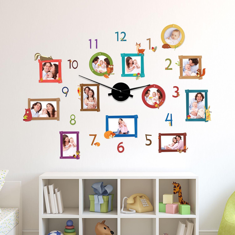 WC2101 - COM - WS5096 + WC2050 - Animal Photo Frames Wall Clock