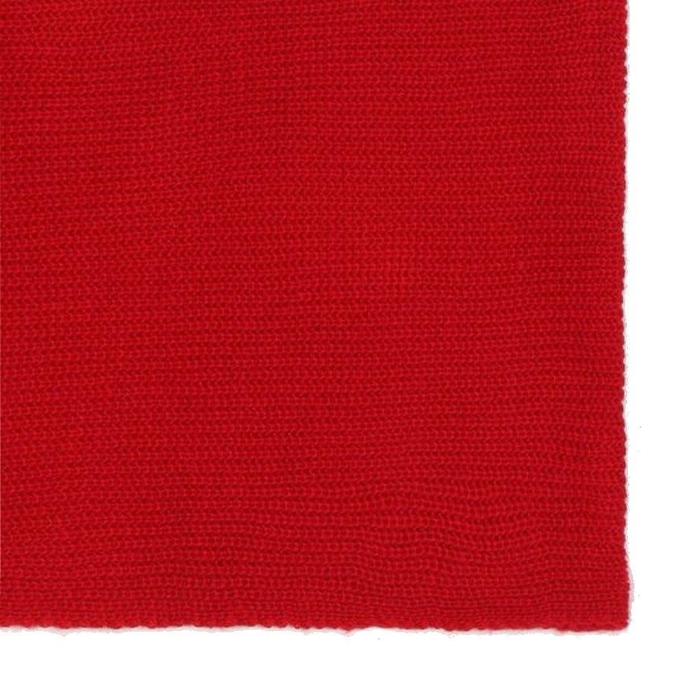 Assuili 4 Yarn 200x30cm Scarf in Red
