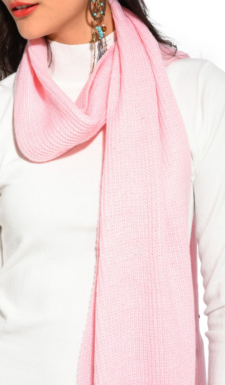 Assuili 4 Yarn 200x30cm Scarf in Pink