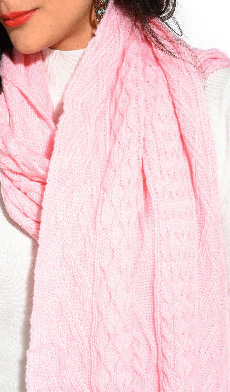 Assuili Twisted 4 Yarn 200x30cm Scarf in Pink