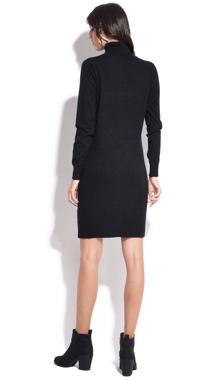 Assuili Turtleneck Dress in Black