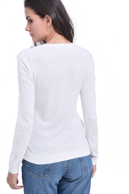Assuili V-neck Sweater in Natural
