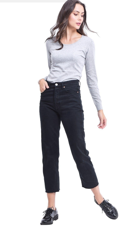 Assuili Round Neck Sweater in Light Grey
