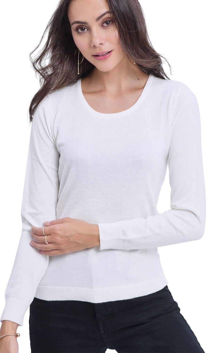 Assuili Round Neck Sweater in Natural