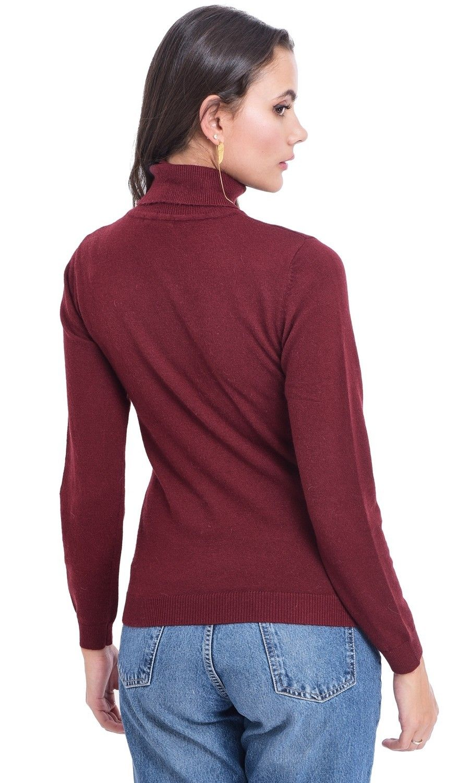 Assuili Turtleneck Sweater in Maroon