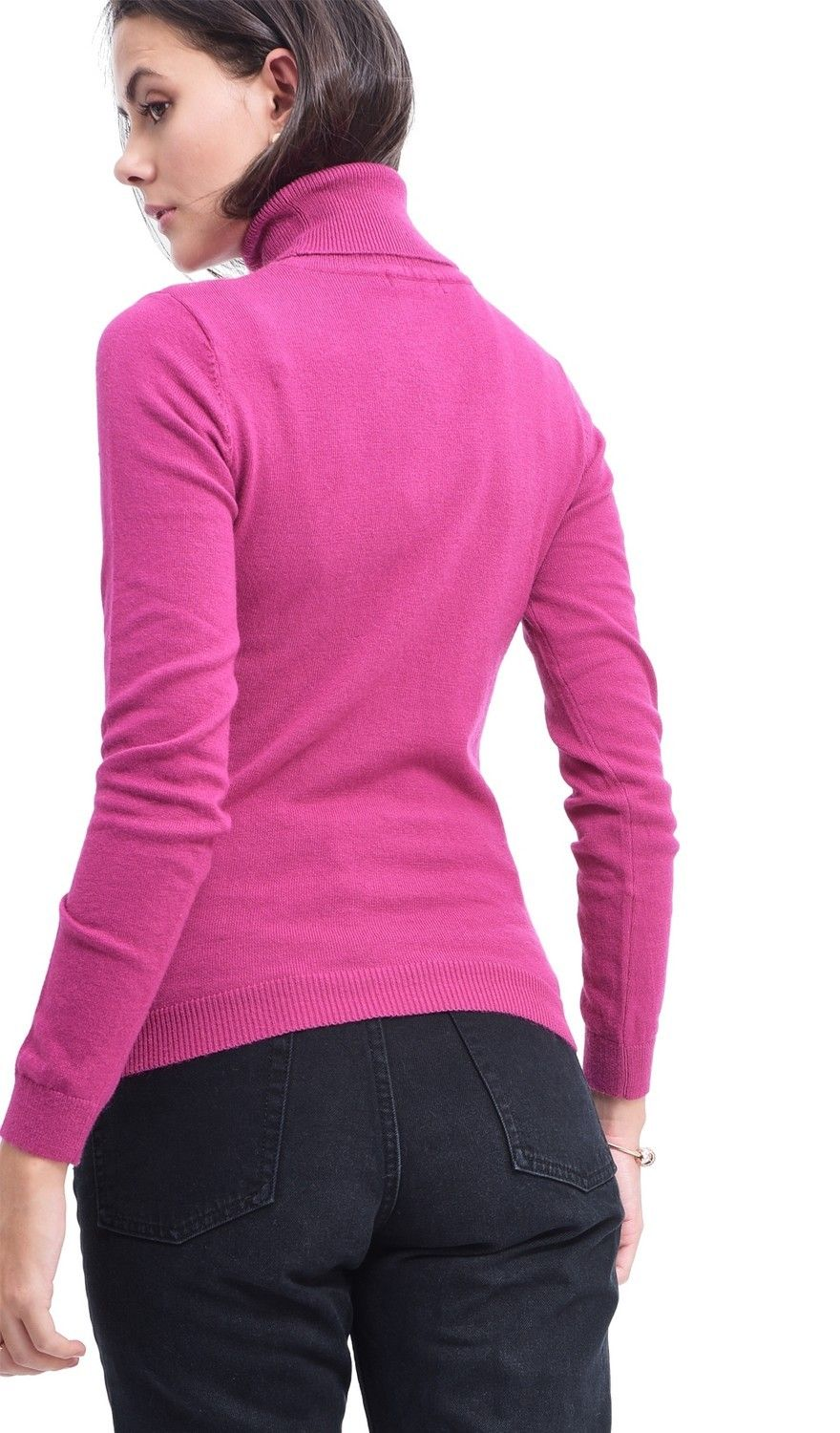 Assuili Turtleneck Sweater in Fuschia