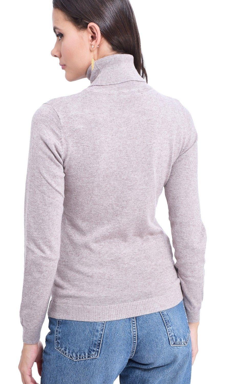 Assuili Turtleneck Sweater in Beige