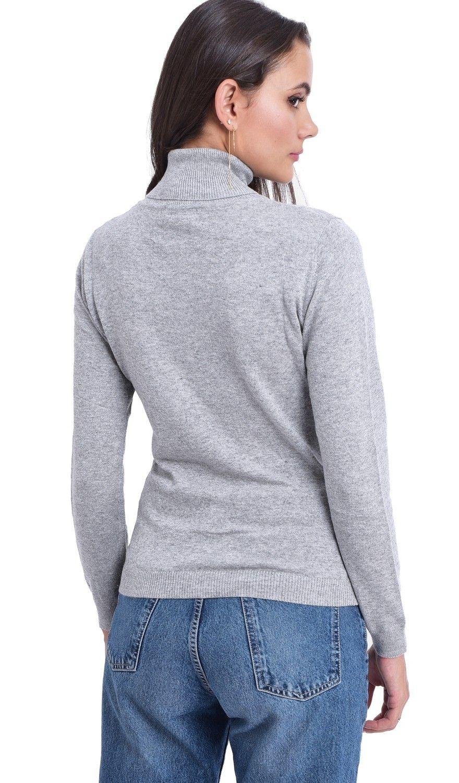 Assuili Turtleneck Sweater in Light Grey