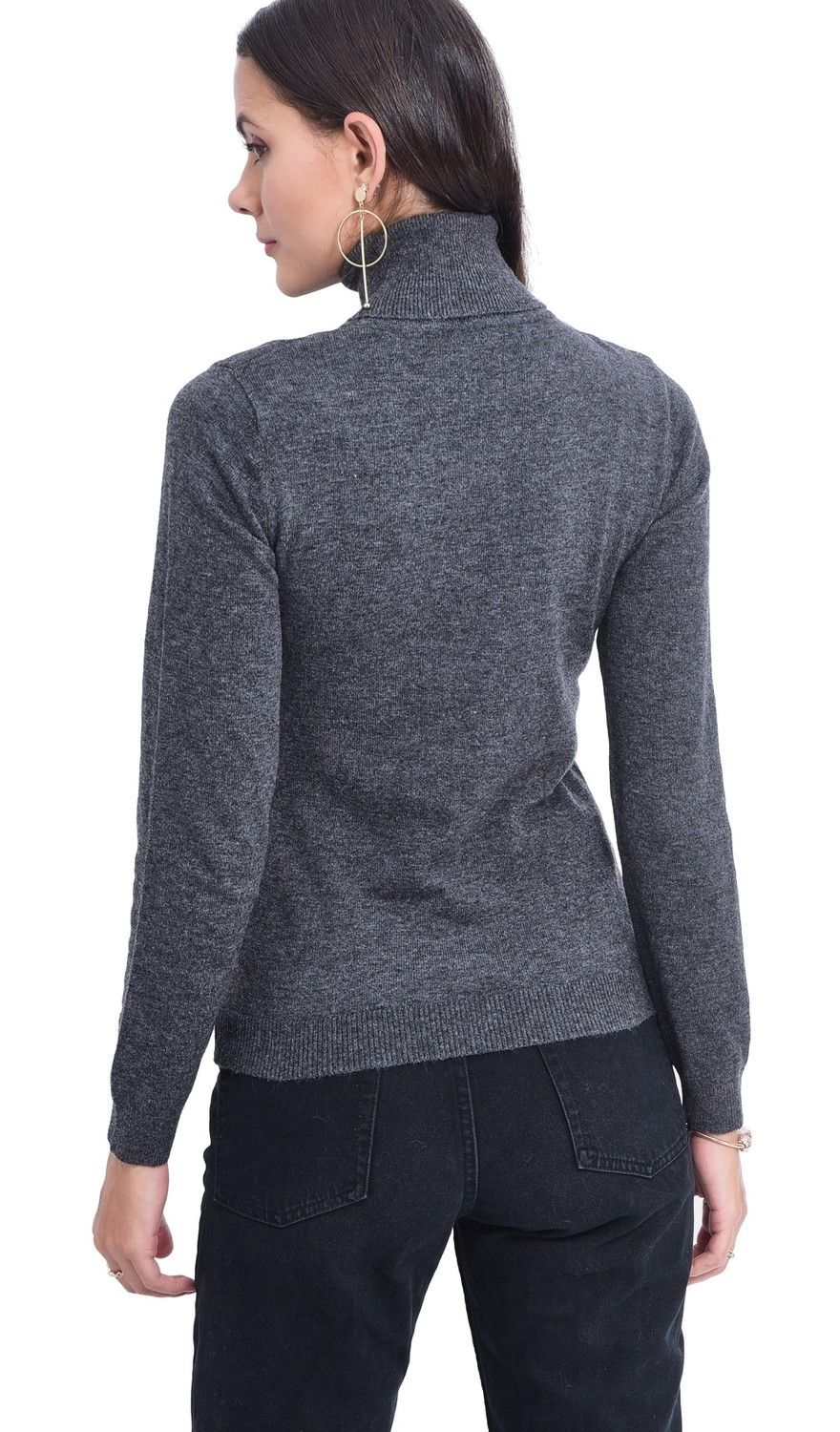 Assuili Turtleneck Sweater in Grey