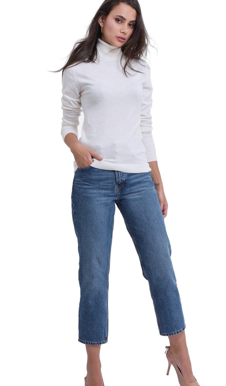 Assuili Turtleneck Sweater in Natural