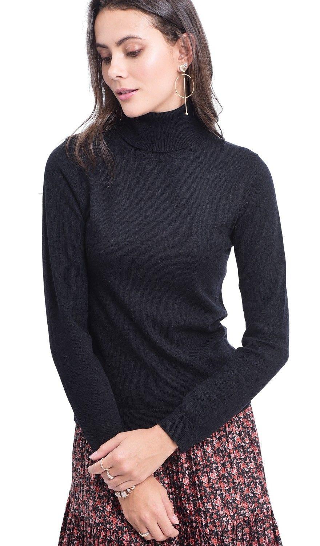 Assuili Turtleneck Sweater in Black