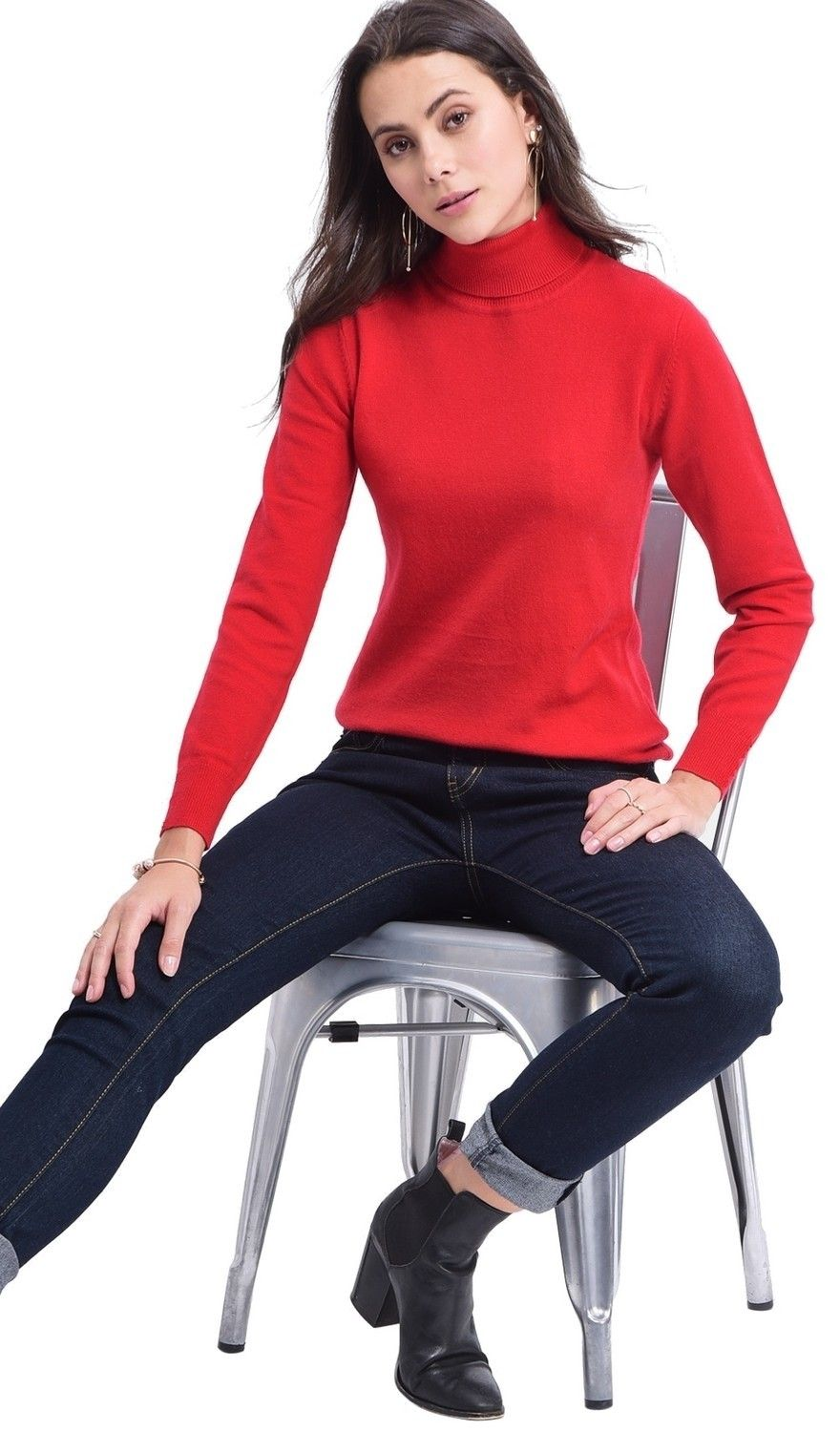 Assuili Turtleneck Sweater in Red