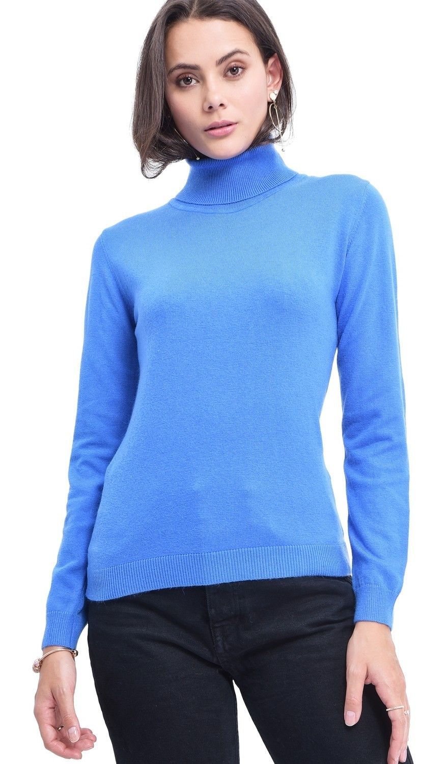 Assuili Turtleneck Sweater in Blue