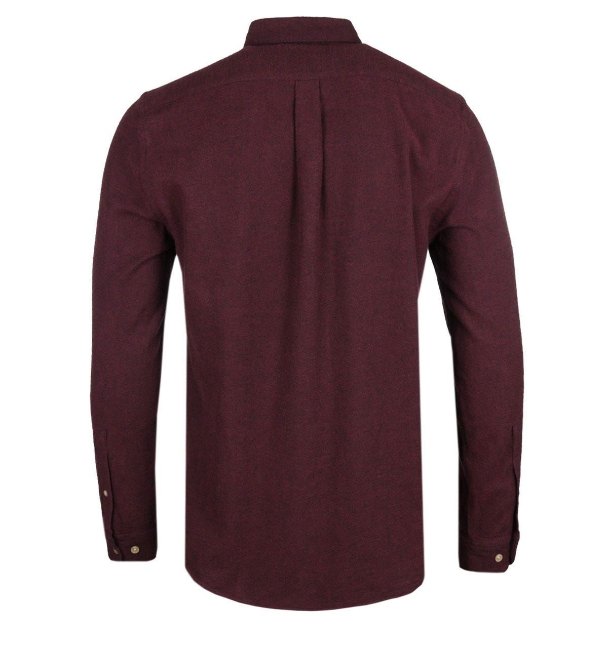Portuguese Flannel Teca Bordeaux Long Sleeve Shirt