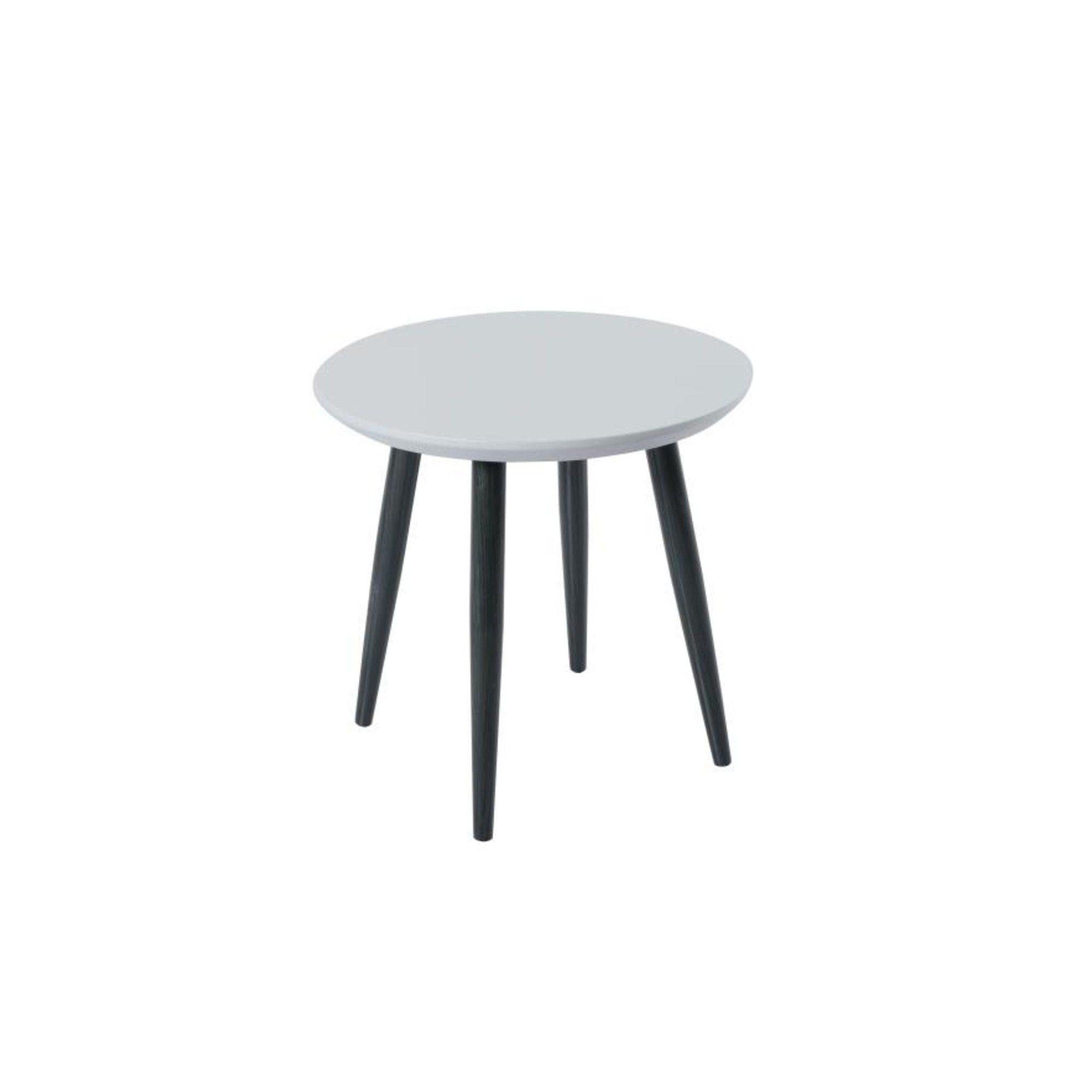 Orbit Circular End Table with a Light Grey Matt Finish