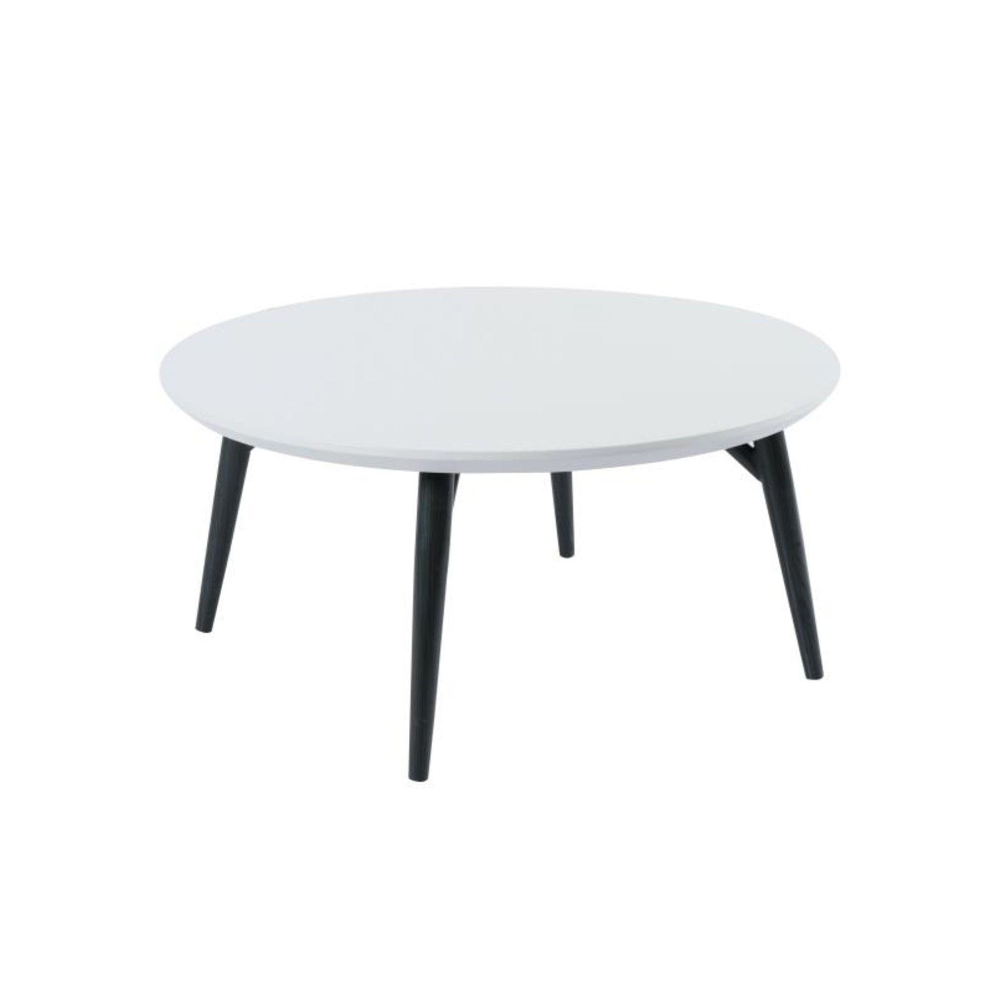 Orbit Circular Coffee Table with a Light Grey Matt Finish