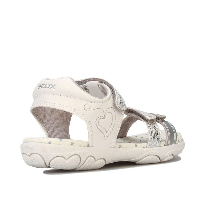 Girl's Geox Children Cuore Sandal in Silver
