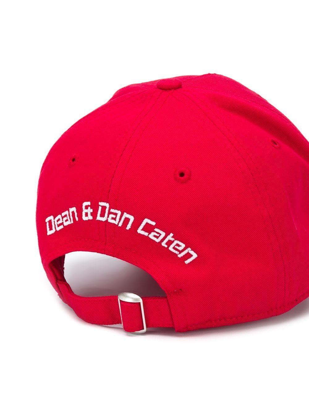 DSQUARED2 MEN'S BCM031405C000014065 RED COTTON HAT