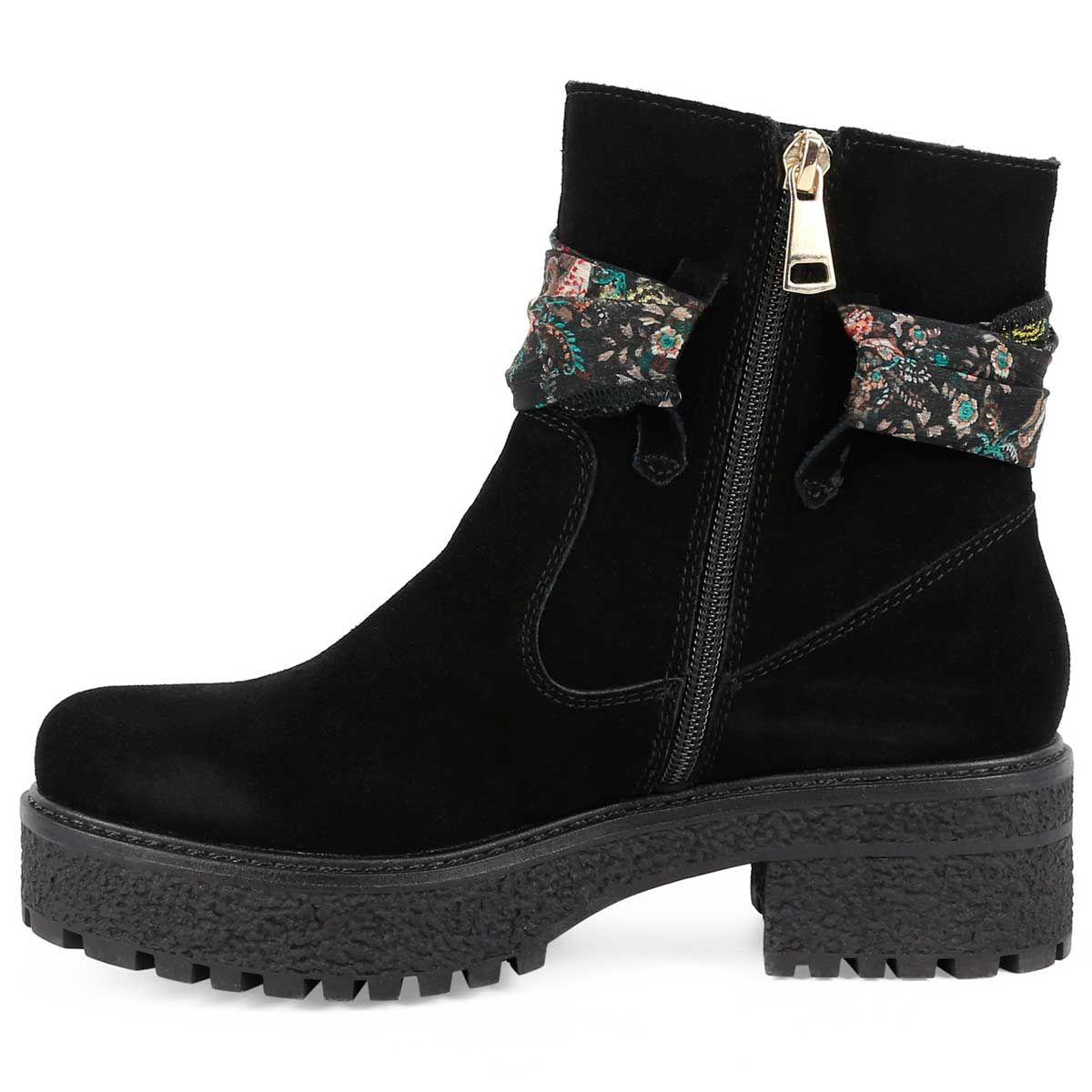 Montevita Scarf Tie Ankle Boot in Black