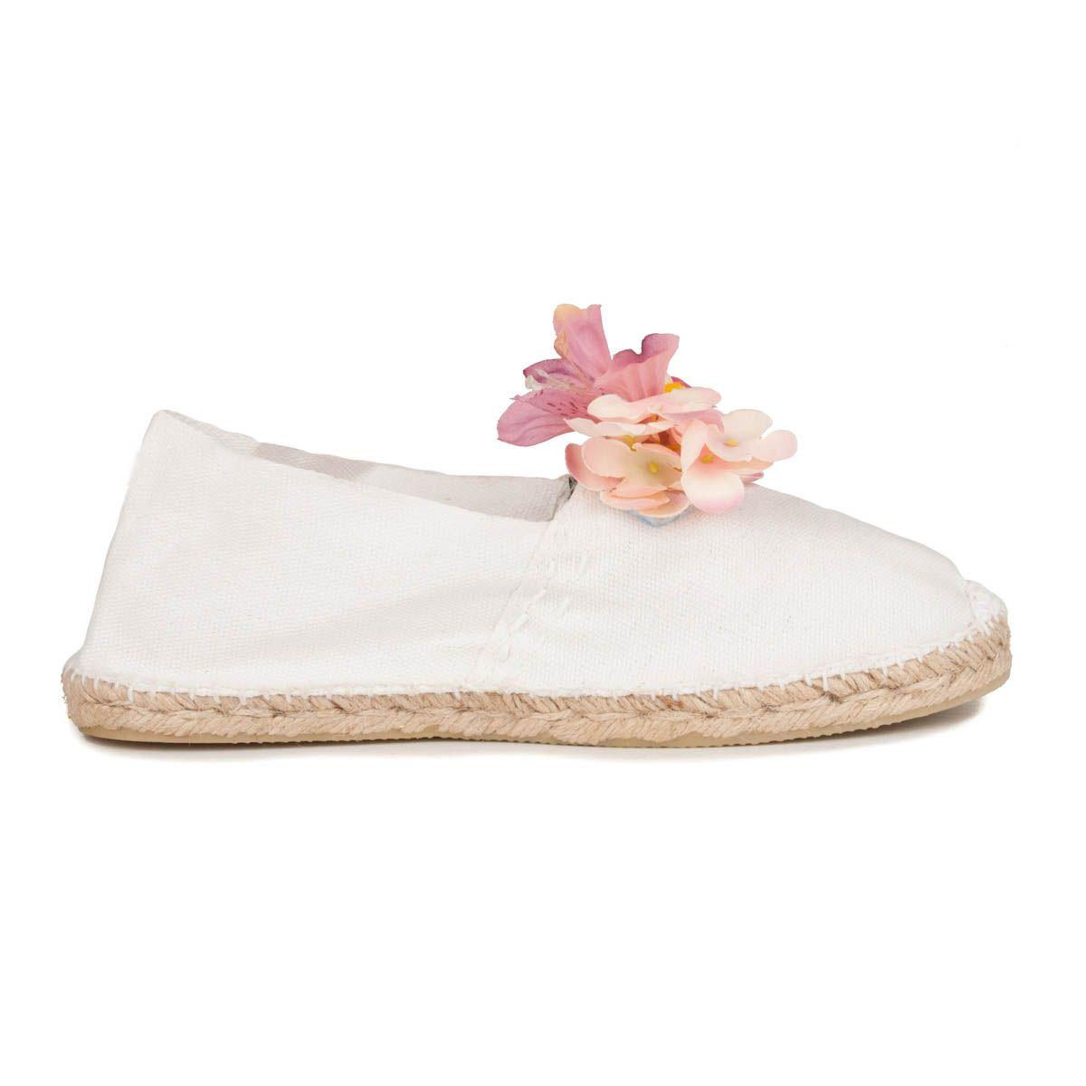 Maria Graor Floral Espadrille in White