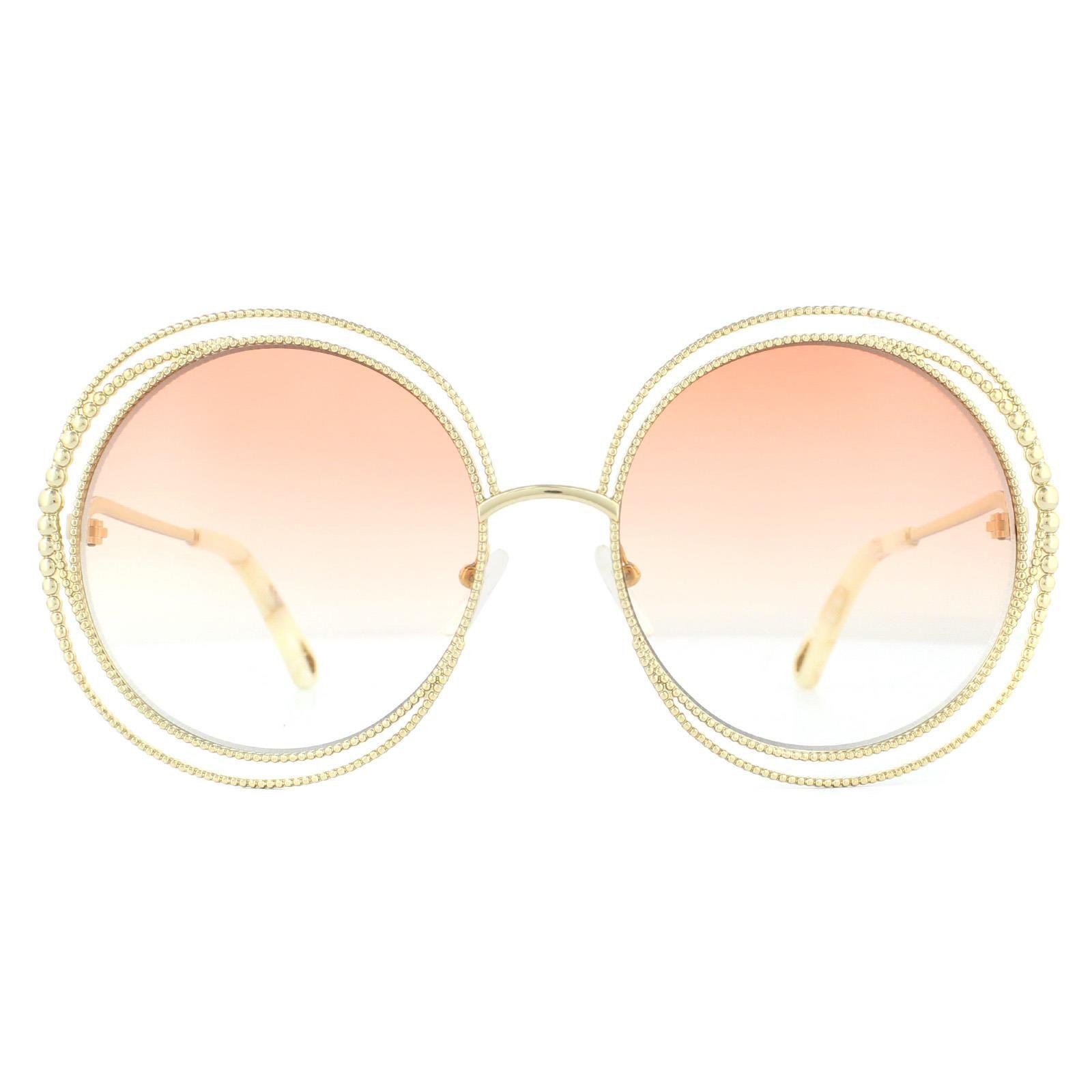 Chloe Sunglasses Carlina CE114SC 724 Gold Peach Gradient